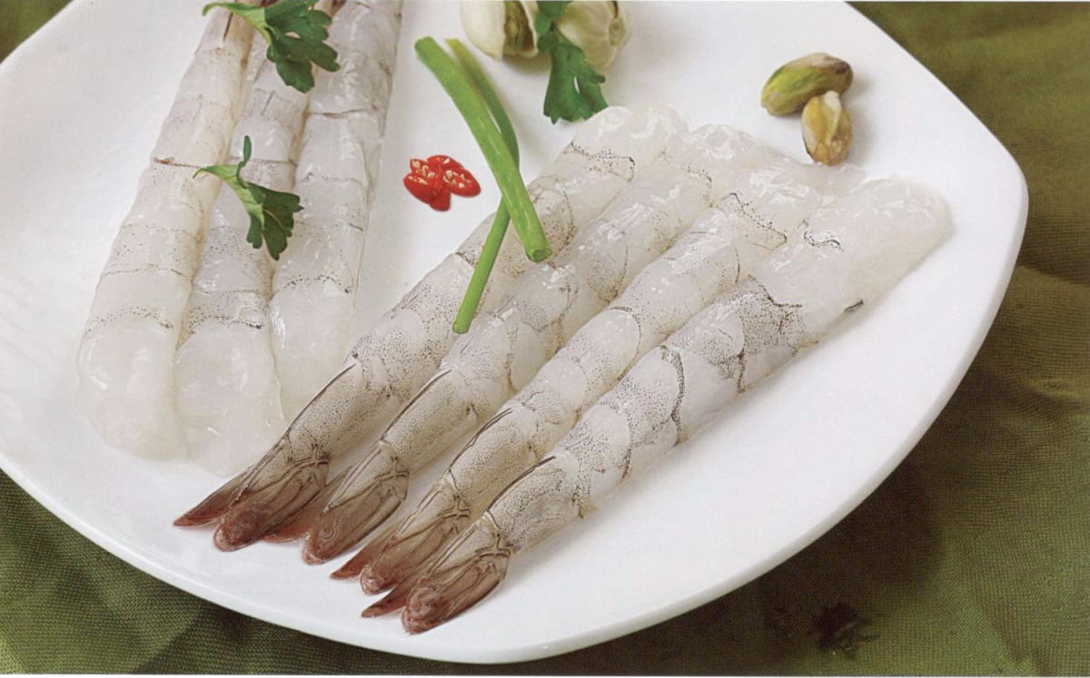 Raw Stretched Prawns (Japanese Style Nobashi)